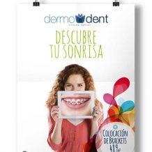 Diseño gráfico, poster clínica dental Dermodent