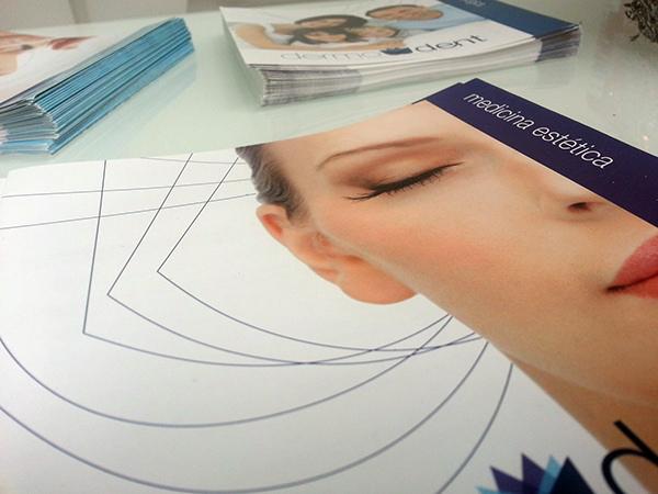 Dermodent folletos promocionales corporativos