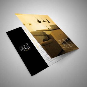 Diseño de folleto corporativo díptico Gure Era