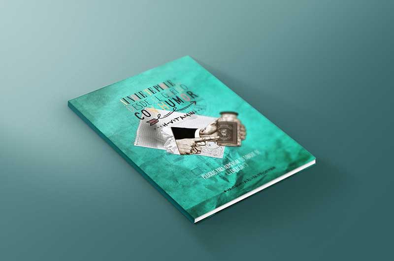"libro, portada: coach Zaira Vicente. ""Aunque te pique , desde el cariño con humor. H-vitamin"""