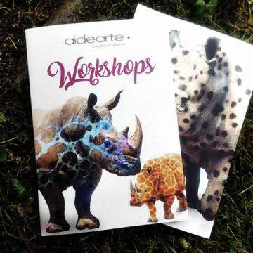 Diseño creativo de folletos dípticos y trípticos